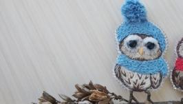 Брошь ′Утепленная сова′