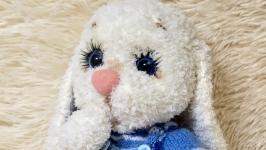 Мягкая игрушка ручной работы вязаный зайчик зайка зая