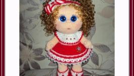 Мастер-класс наряда для куклы ′КРАСНОЕ ПЛАТЬЕ С ЦВЕТКОМ′