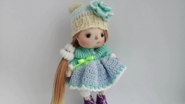 Doll Handmade Gift for her Textile Doll Interior Doll OOAK Decor doll