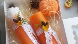 набір свічок - апельсиновий