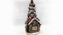 Новогодняя елка в эко-стиле из природных материалов ′Новогоднее чудо′