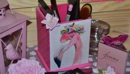 Розовая Фламинго - Карандашница