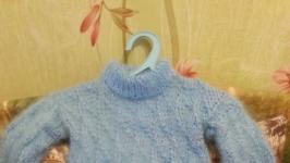 пуховый джемпер с люрексом голубая чешуя