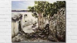 Картина маслом ′Старая Никосия′ 35*45 см. Холст на подрамнике, масло