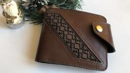 Чоловічий портмоне, гаманець чоловічий, шкіряний гаманець
