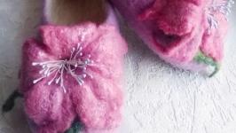 Валяные тапули для принцессы