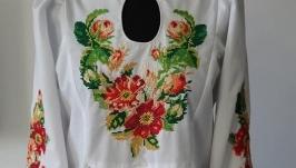 Рубашка вышитая Шиповник - заготовка