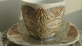 Набор для чая, кофе ′ Золото и серебро′
