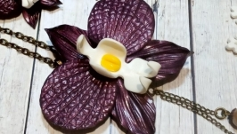 Комплект с орхидеей