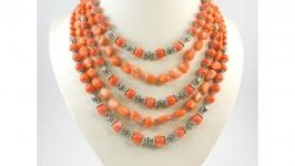 Ексклюзивне намисто ′Ірина′ з оранжевого коралу