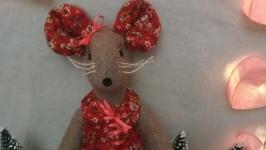 Мышонок текстильный