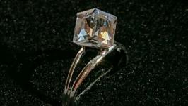 Кольцо Swarovski безразмерное. Кристалл Vitrail Light