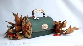 кожанная крафтовая сумка ручной работы Боже_вільна02