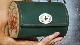кожанная крафтовая сумка ручной работы Боже_вільна01