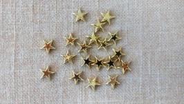 Кабошоны ′Звезды′. Золото (20 шт)