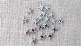 Кабошоны ′Звезды′. Серебро (20 шт)