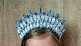 Корона снежной королевы Обруч на утренник Новогодний ободок для девочки