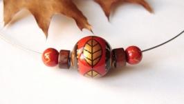 ′Осень′ колье с ручной росписью