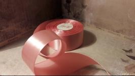 Атлас пыльный розовый