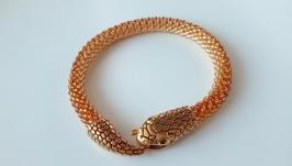 Золотой браслет Жгут Змейка