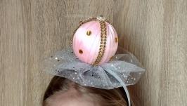 Обруч Бусинки на утренник Новогодняя игрушка ободок для девочки