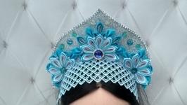 Корона Снегурочки на утренник Новогодний ободок для девочки Обруч на голову