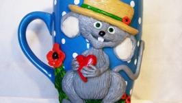 Чашка ′Мышь в брыле′