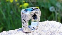 Авторское серебряное кольцо Дикий камень