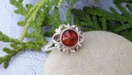 Янтарь в серебре кольцо 3