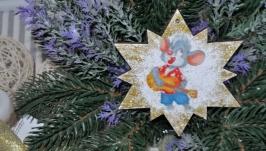 Новорічні прикраси з дерева ′Мишення 2′