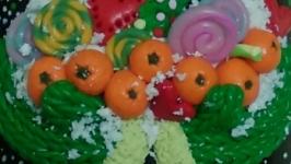 Кружка и ложка  ′Новогодняя сказка′ с декором из полимерной глины