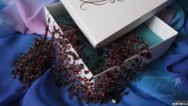 Кольє повітруля та сережки ′Бургундське вино′