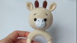 Погремушки - грызунок для новорожденного, вязаная игрушка ручная работа