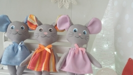 Мышки маленькие, ручная работа. Мыши текстильная.