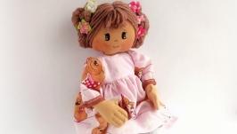 Rag doll First doll Handmade doll Gift new baby Soft doll
