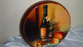 Сырная доска толстушка ′Натюрморт-2′ для оригинальной подачи закусок