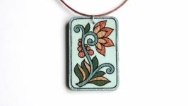 ′Сказочный цветок′  кулон с ручной росписью