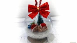 Прозрачная елочная игрушка ′Новогодний шар на елку′