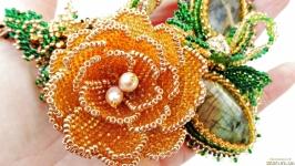 Колье ′Золотая роза′ с лабрадоритами Нашло Хозяйку!
