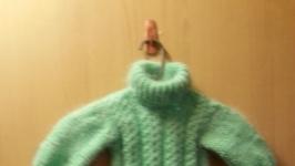 пуховый свитер с люрексом