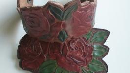 Кожаный комплект украшений ′Нежность′