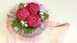 Новогодние повязки с цветами  №1
