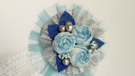 Новогодние повязки с цветами  №2