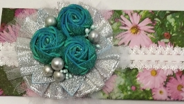 Новогодние повязки с цветами  №3