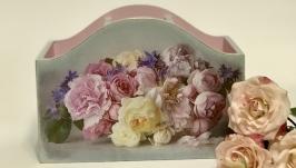 Подставка-органайзер «Шебби-розы»