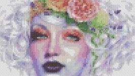 Схема к картине - Девушка с венком