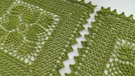 Комплект зелених серветок (2 штуки)