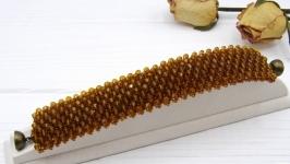 Браслет ′Корица′ хрусталь коричневый