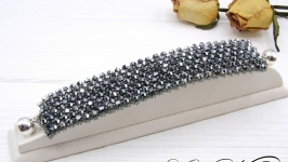 Браслет ′Платина′ хрусталь серебро